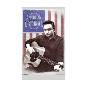 JOHNNY CASH - AMERICAN FLAG POSTER